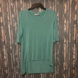 LOGO Solid High Low Tunic Top